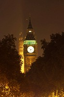 England, London, Big Ben, night