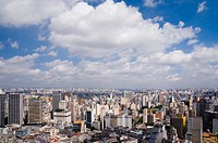 Brazil, Sao Paulo, cityscape, elevated view