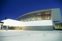 Italy, Milan, Teatro degli Arcimboldi at dusk