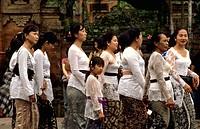 Bali Ladies. Cremation Ceremony. Ubud. Bali. Indonesia