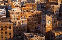 Skyline of Sanaa Unesco World Heritage City, Yemen