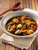 Indian-style chicken soup