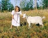 Girl and goat