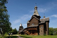 Museum of wooden architecture. Vitoslavitsy. Russia.