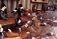 shop window of shoemaker