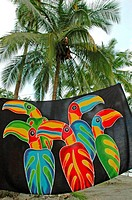 Costa Rica, Manuel Antonio National Park, beach towel