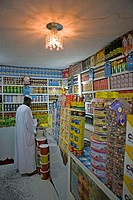 Sudan, Bayuda desert, Dongola, local grocery