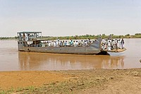 Sudan, Atbara, ferry on the river Nile