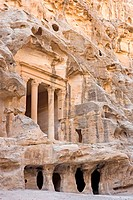 Jordan, Beida or little Petra, Nabataean tomb