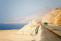 Jordan, road by the Dead Sea