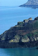 Channel Islands, Jersey, castle and rockbound coast