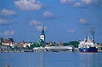 Estonia, Tallinn, harbour