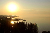 Hungary, Lake Balaton, sunset
