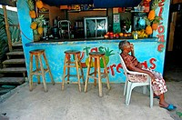Costa Rica, Caribbean coast, Puerto Viejo, local cafe (thumbnail)