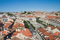 View over Rossio Square, Lisbon. Portugal