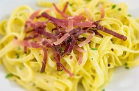 fettuccine with ham