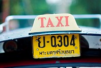 Thailand, Bangkok, Thai taxi