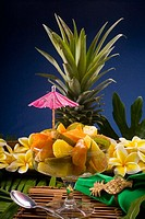 Studio shot of a tropical fruit salad
