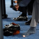 Businessman Wearing Socks With Hole
