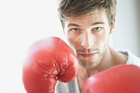 Man ready for boxing match