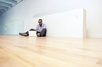 Businessman in an empty office