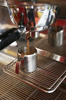 Close-up of espresso machine