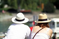 Couple, Lake, Constance, Bavaria, Germany,