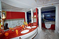 Burj, Al, Arab, Hotel, suite, bathroom, with, whirlpool, Jumeirah, Beach, Resort, Dubai, United, Arab, Emirates