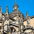 Cathedral (16th century) by Juan Gil de Hontañon, Segovia. Castilla-Leon, Spain