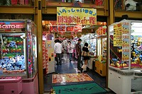 Gambling, house, Shopping, Street, Kyoto, Japan, Spielsalon, Einkaufsstrasse, Kyoto, Japan, Kioto