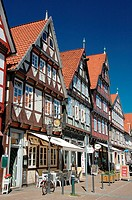 Timber-framed, houses, Schuhstrasse, Celle, Lower, Saxony, Germany,