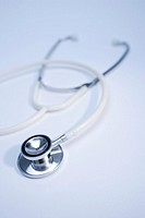 Stethoscope, close-up, blue tone