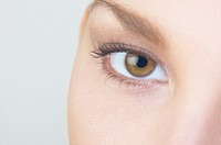 Extreme close up of Hispanic womanÆs eye