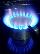 Gas flame of a gas cooker