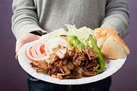 A portion of döner kebab (thumbnail)