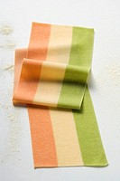 Striped pasta dough in three colours