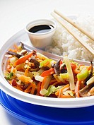 Asian vegetable stir-fry with rice (thumbnail)