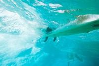 Surfboard underwater