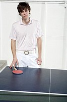 Man losing at ping-pong