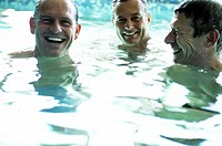 Men in swimming pool