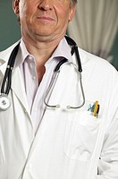 Male doctor in stethoscope