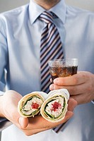 Chicken wrap with cranberries