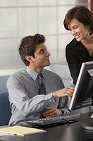 Business team using computer