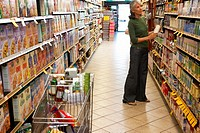 Mature woman shopping in supermarket