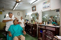 Hairdresser's and barber shop in the city centre. Santiago de Cuba, Cuba