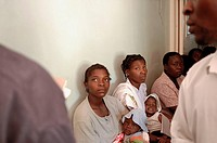 Patients wait in the Maternity Ward of the Howard Hospital. They come for pre and post-natal consulatation. The Howard Hospital is a Salvation Army fa...