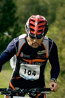 Mountain bike race competition. Madrid, Spain