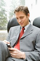 Businessman with palmtop
