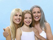 Grandmother, daughter and granddaughter, portrait