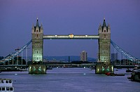 Bridge over a river, Tower Bridge, London, England